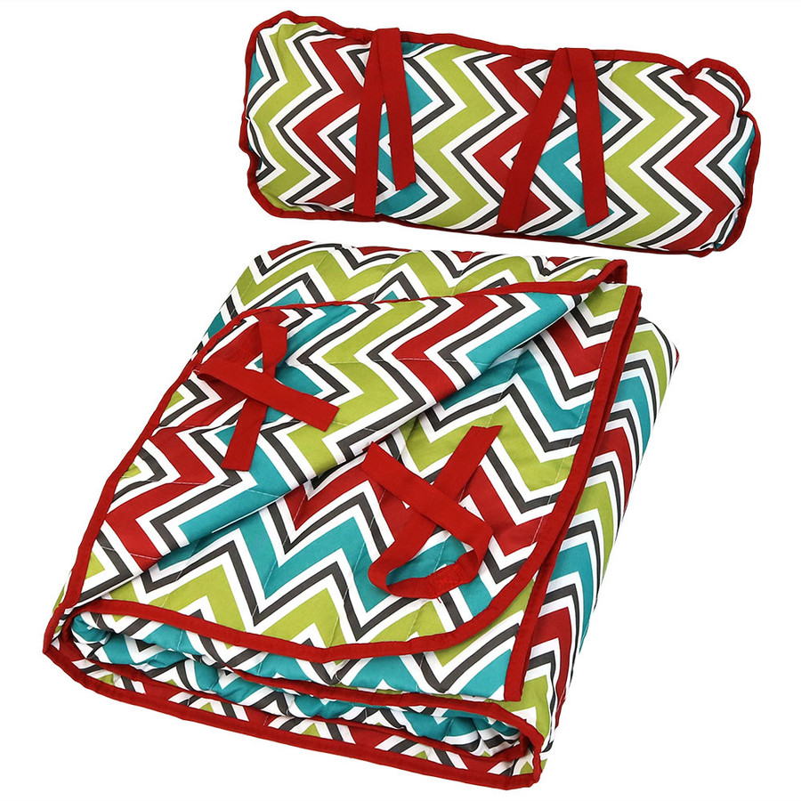 Chevron Stripe Pad and Pillow Folded