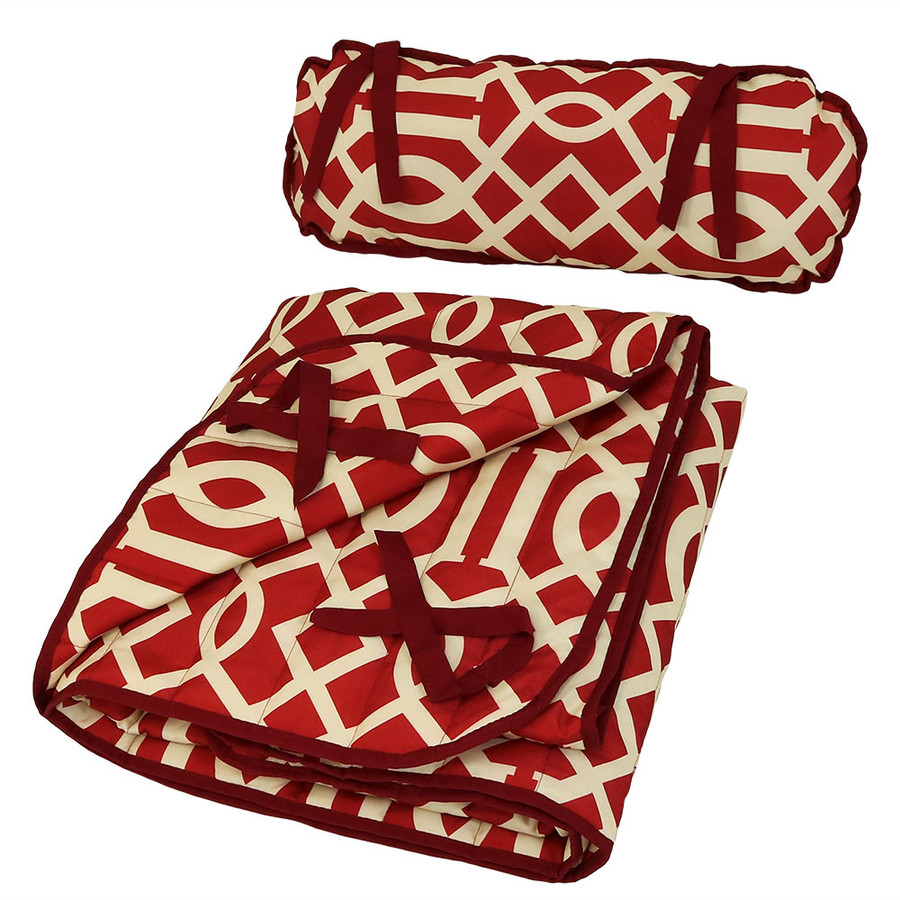 Royal Red Pad and Pillow Folded
