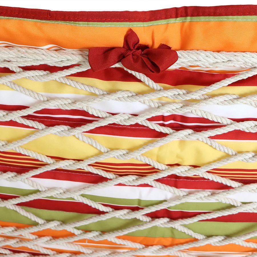 Tropical Orange Stripe Ties (Hammock NOT Included)
