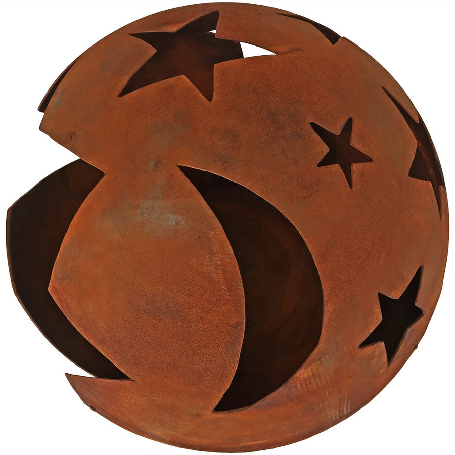 Top View of Starry Night Rustic Fire Pit Bowl