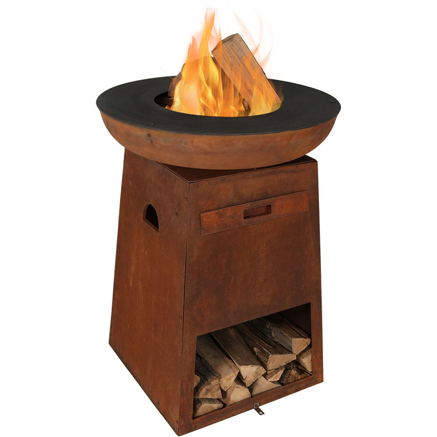 Fire without Cooking Grate