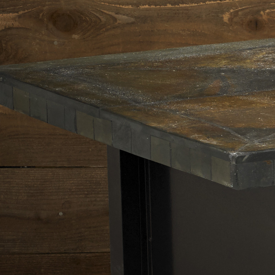 Rusty Slate Rectangle Closeup