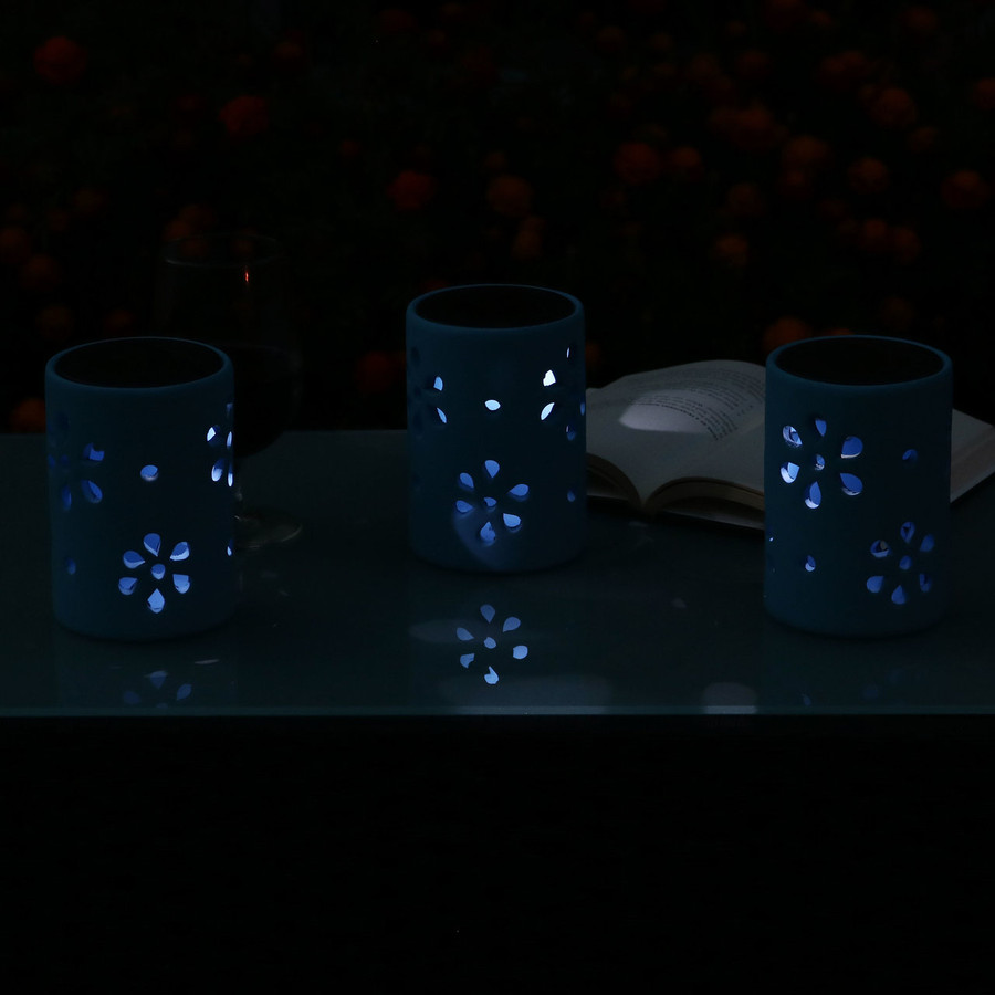 Nighttime Blue Ceramic Jars