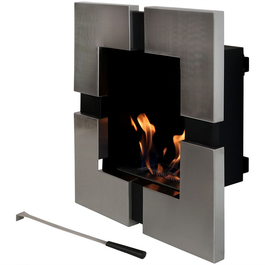 Sunnydaze Chaleur Ventless Wall Mounted Bio-Ethanol Fireplace, 23-Inch