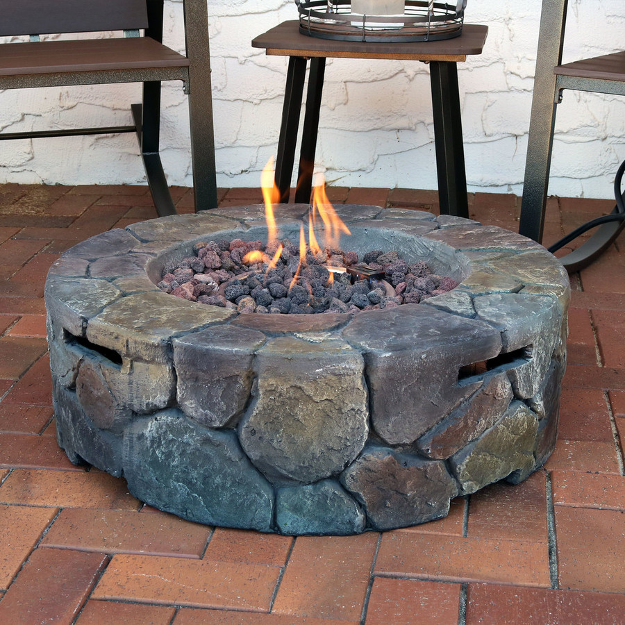 Cast Stone Propane Gas Fire Pit
