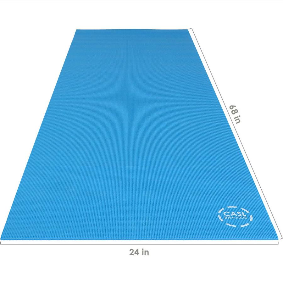 CASL Brands High Density Yoga Exercising Mat with PVC Foam Construction