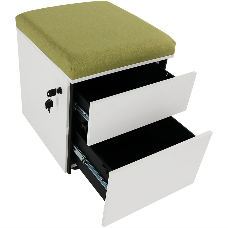Green with Drawers Open
