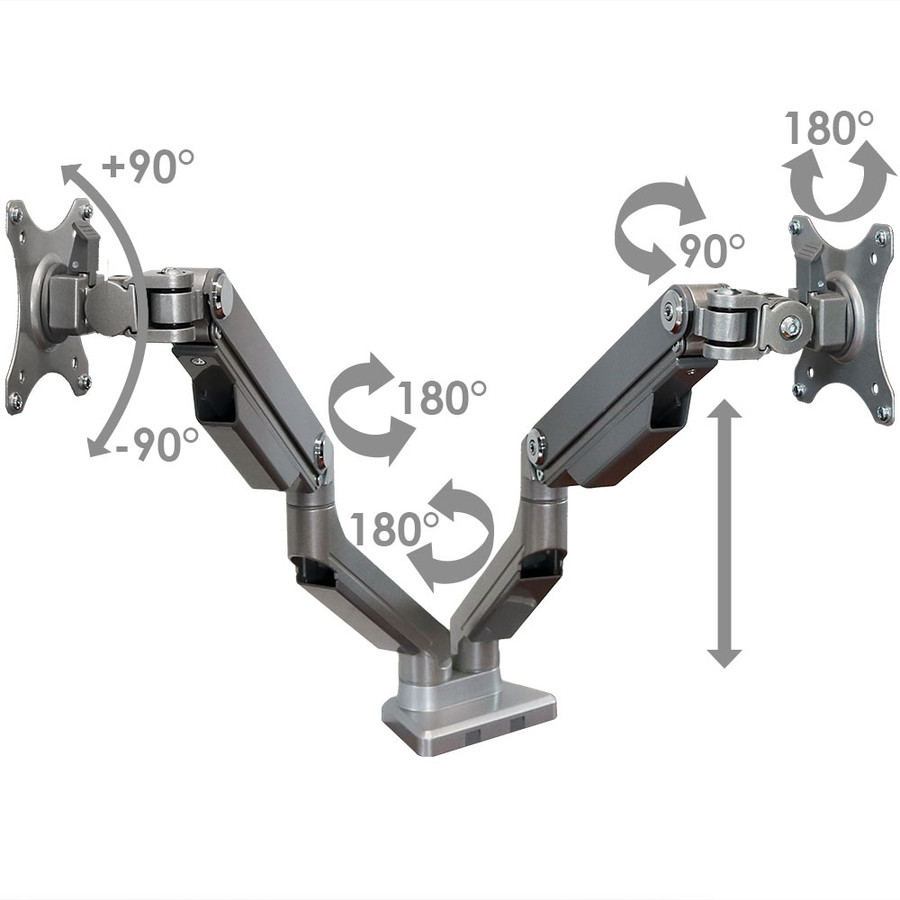 CASL Brands Dual Monitor Desk Mounts with Mechanical Spring Arms for 17-32 Inch Computer Screens