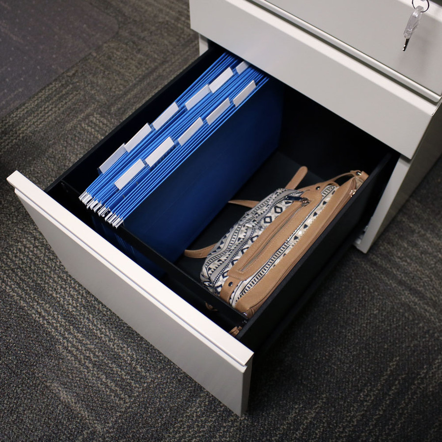 Bottom Drawer with Legal Hanging Files and Purse