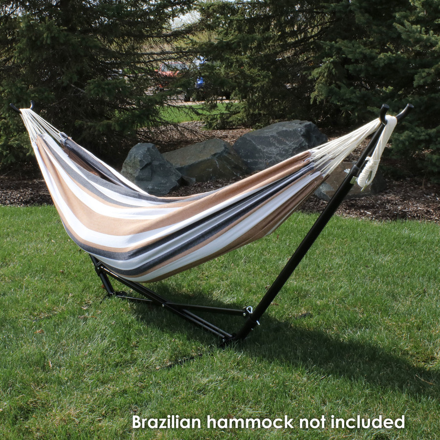 Full view, hammock not included