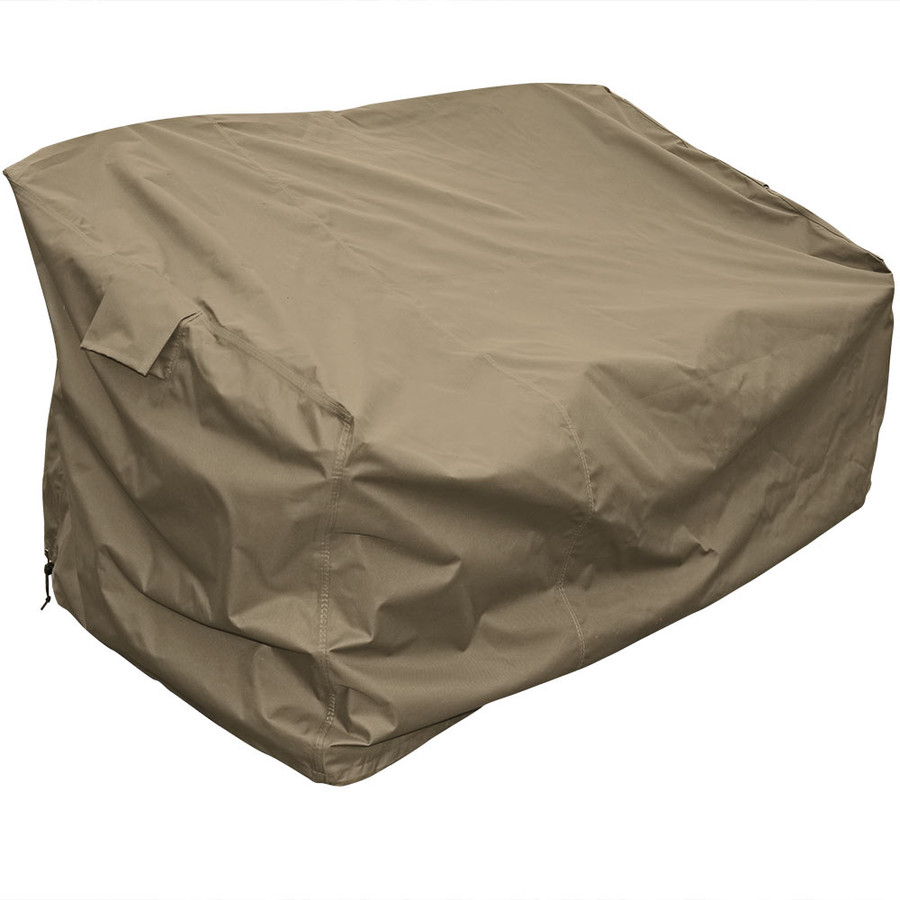Sunnydaze Protective Outdoor Patio Sofa Lounge Cover, Weather Resistant, Khaki