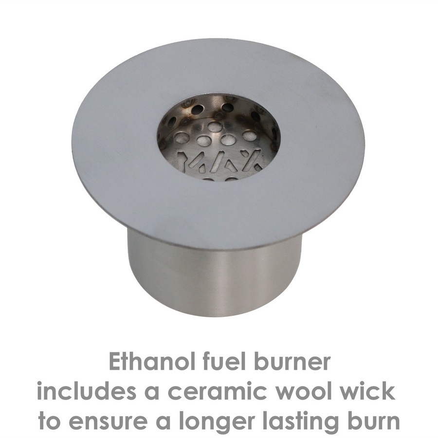 Details of the Fuel Burner for the 8-Inch Rock Tabletop Fireplace