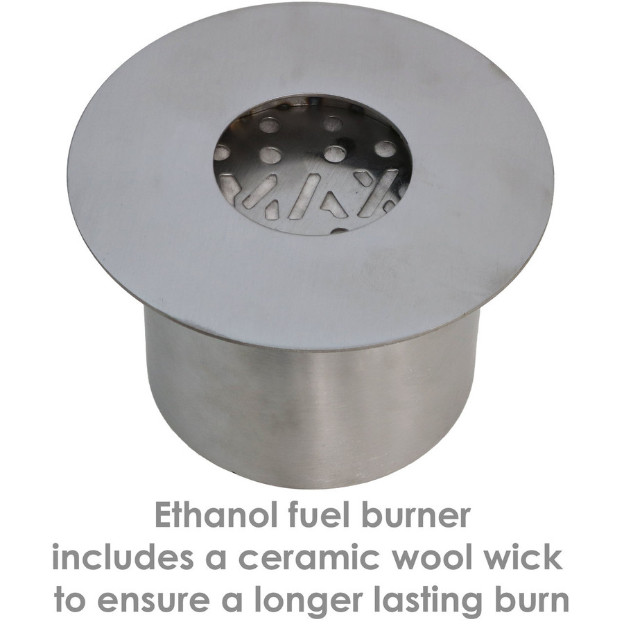 Details of the Fuel Burner for the 14-Inch Rock Tabletop Fireplace