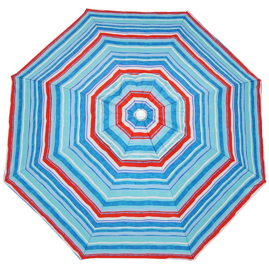 Pacific Stripe Beach Umbrella Top View