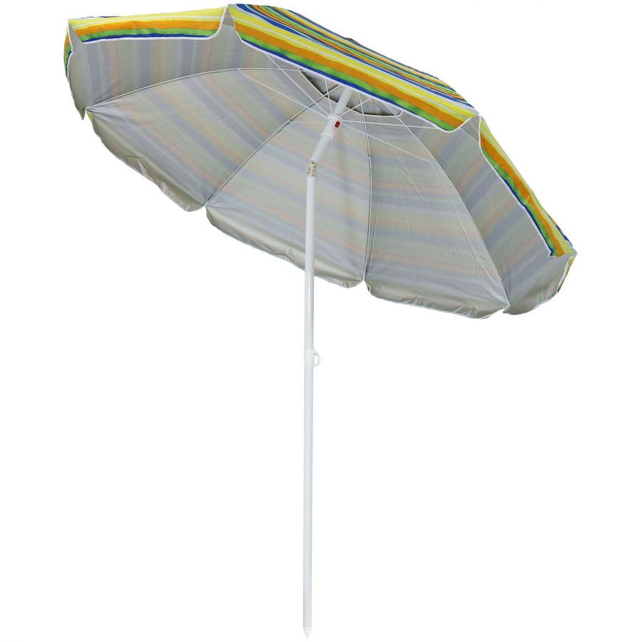 Tropical Fusion Beach Umbrella Tilted