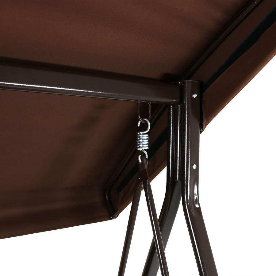 Closeup of Brown Canopy with Frame