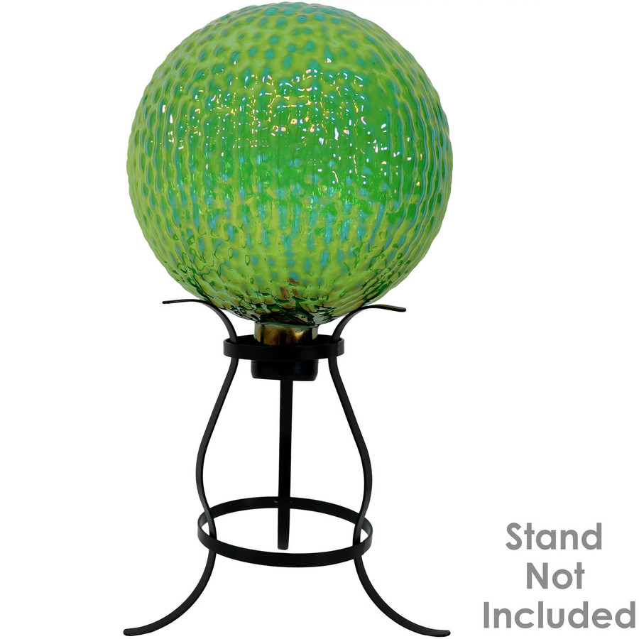 View of Green Textured Surface Gazing Globe Ball (Please Note, Stand is Not Included)