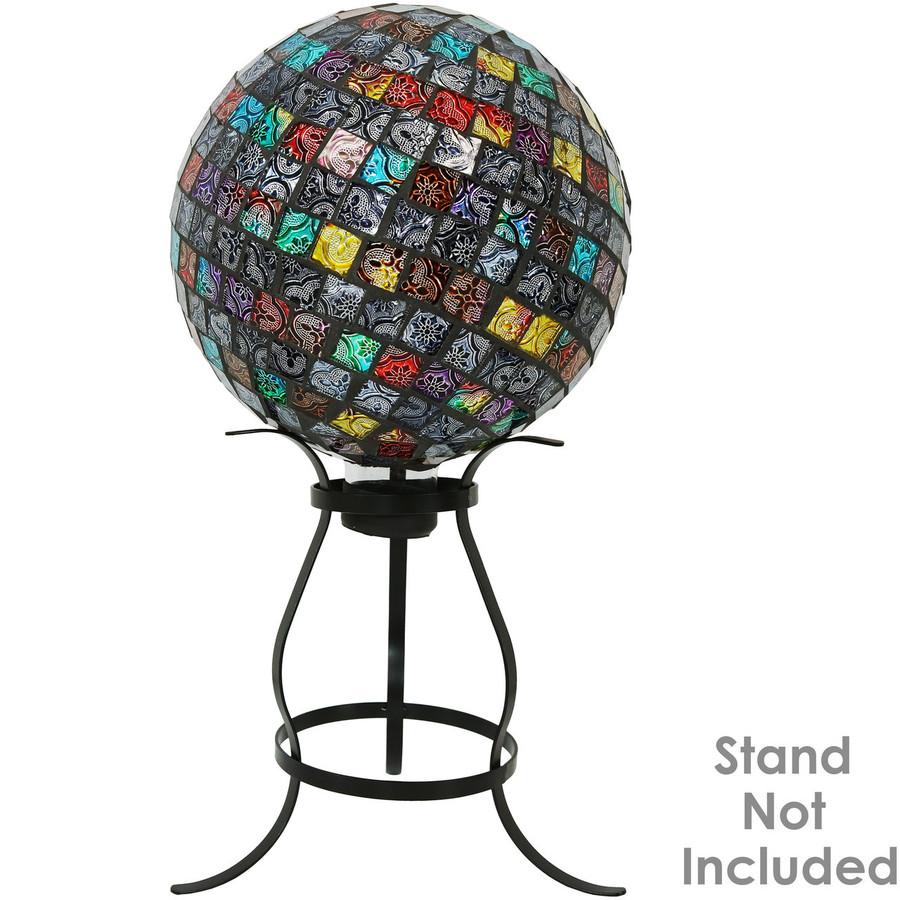Sunnydaze Multi-Colored Tiled Mosaic Outdoor Gazing Globe Ball, 10-Inch