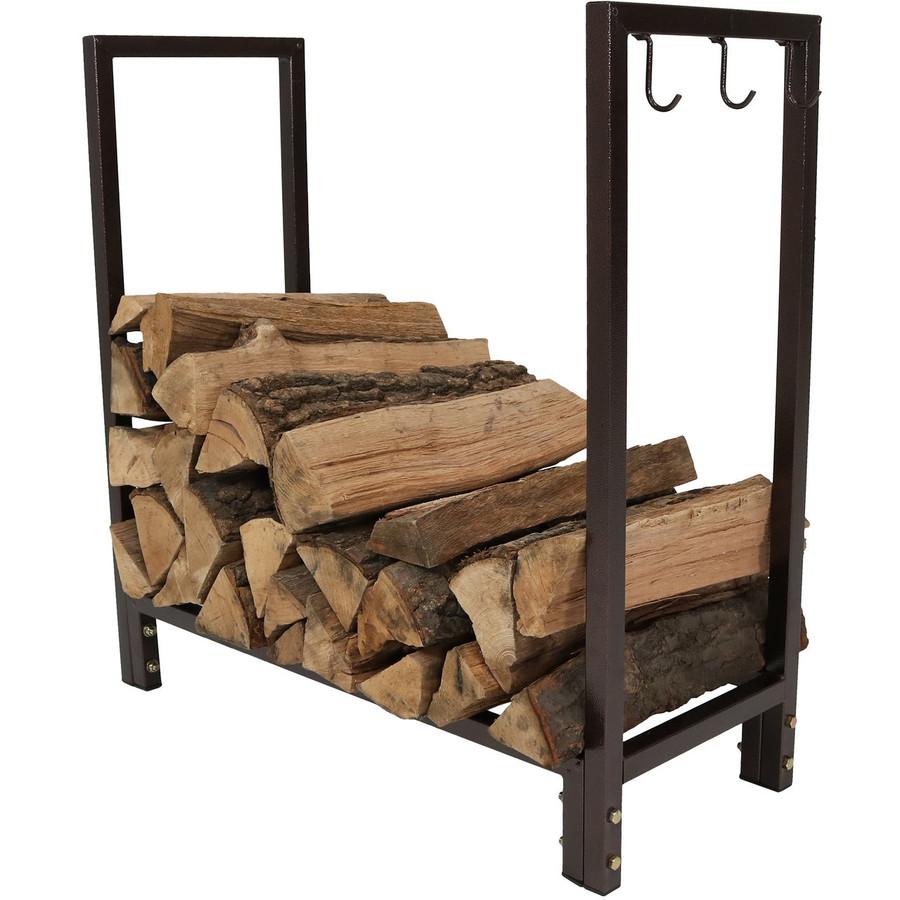 Log Rack with Logs