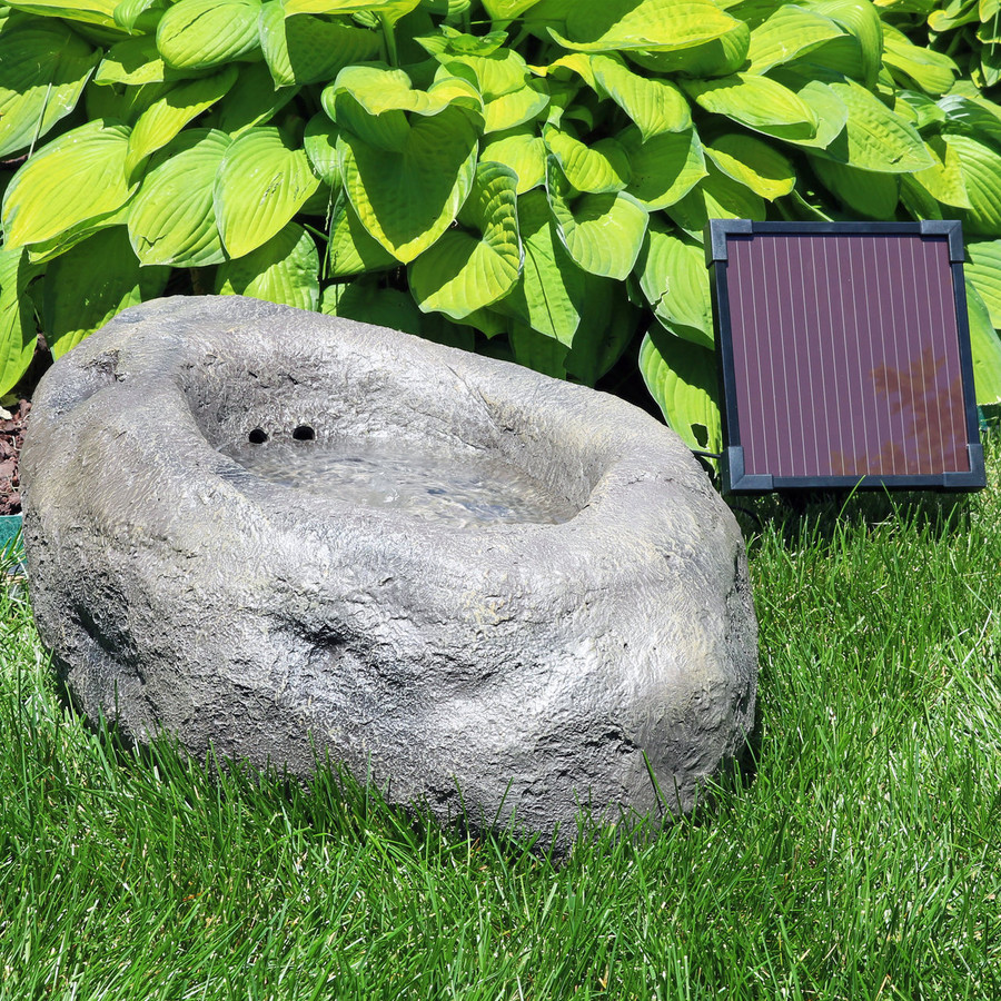 Stone Pond Solar-on-Demand Outdoor Water Fountain