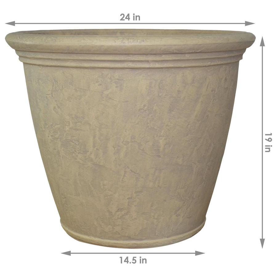 Dimensions of Anjelica Pebble Gray Indoor/Outdoor Planter