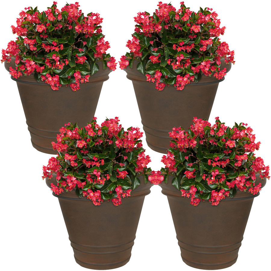 Crozier Indoor/Outdoor Rust Finish Planter, Set of 4