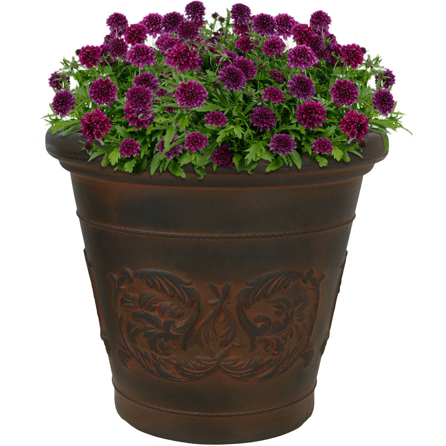 Arabella Rust 16-Inch Diameter Indoor/Outdoor Planter, Single