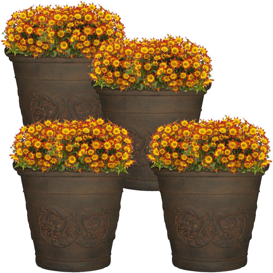 Arabella Sable Indoor/Outdoor Planter, Set of 4