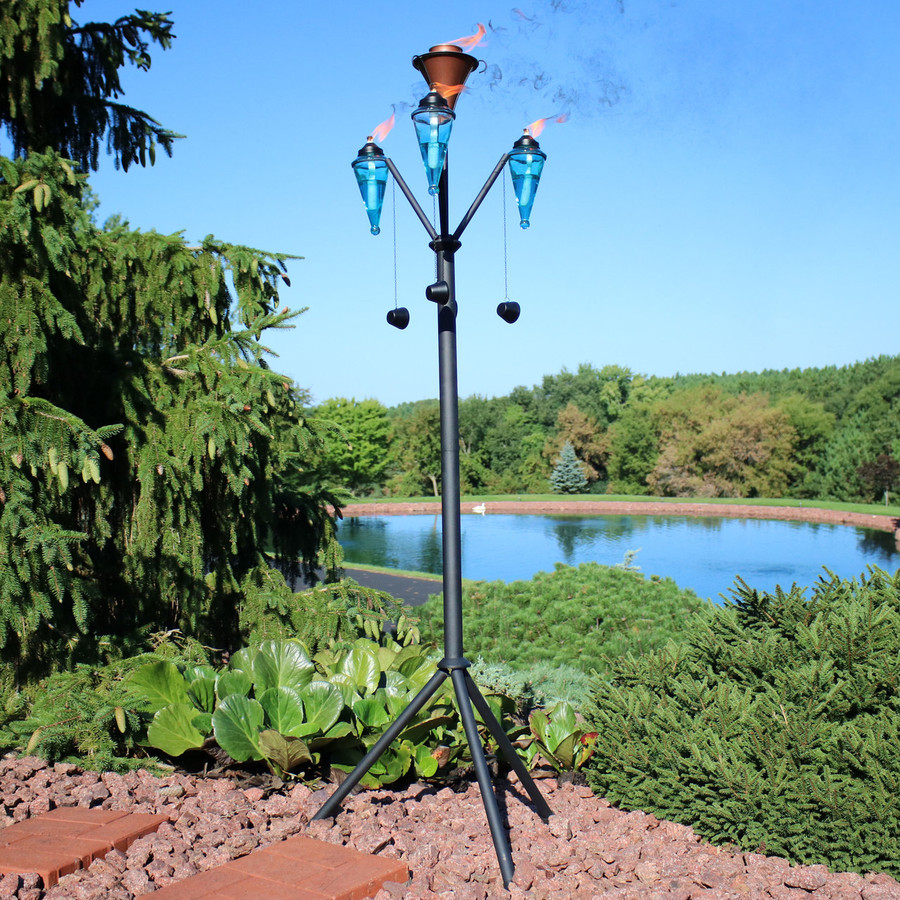 Multi-Arm Outdoor Torch Stand