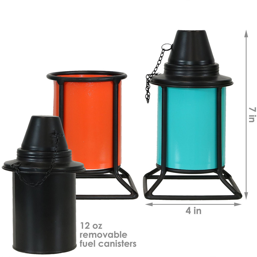 Dimensions Multi-Color Outdoor Tabletop Metal Torches