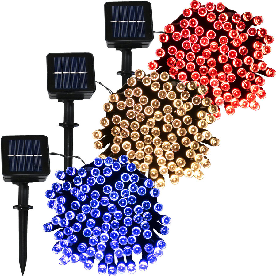 100-LED Red, Warm White and Blue Set