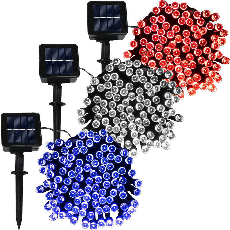 100-LED Red, Bright White and Blue Set
