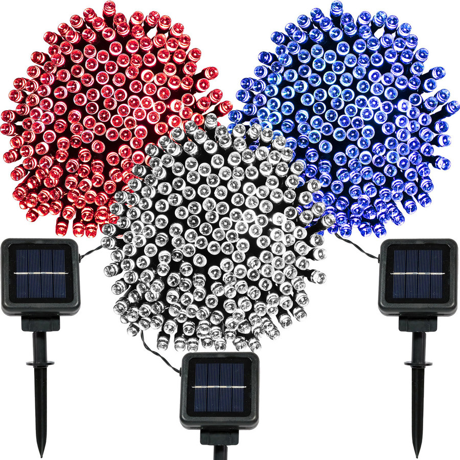 200-LED Red, Bright White and Blue Set