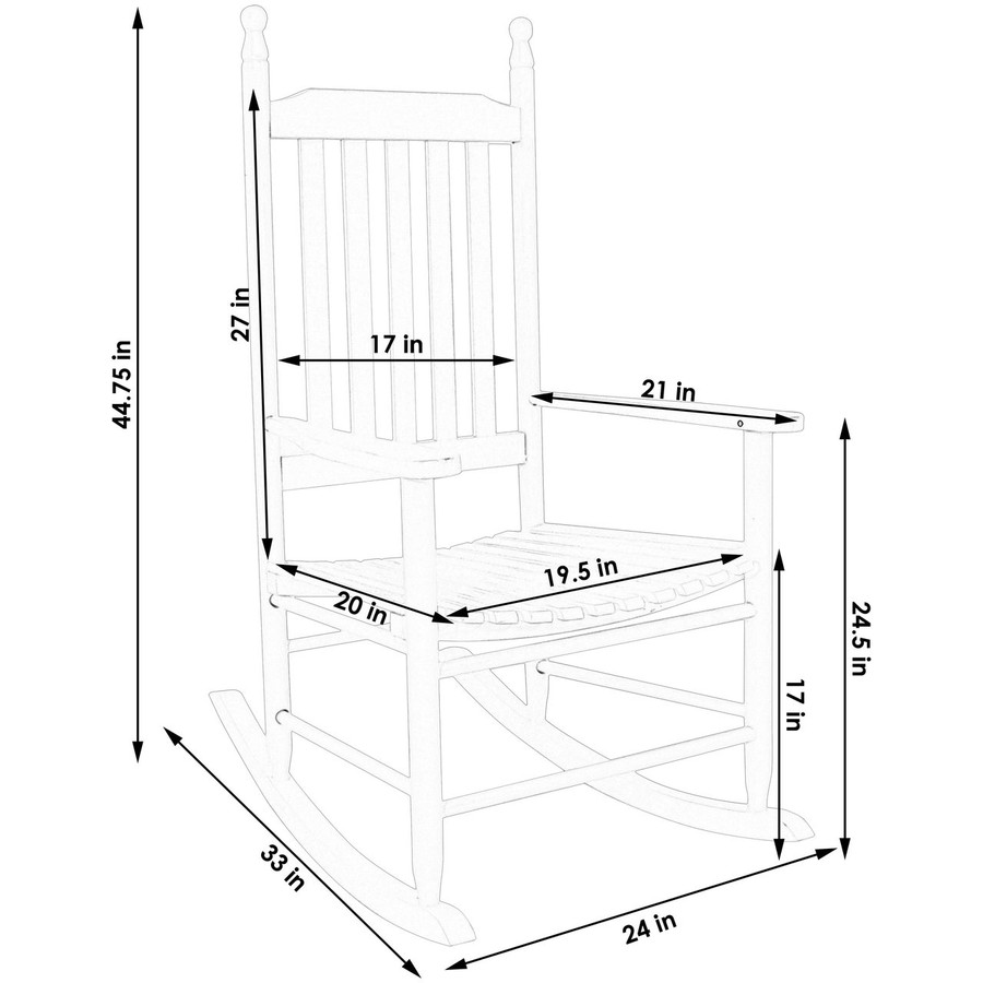 Dimensions of Wooden Rocking Chair