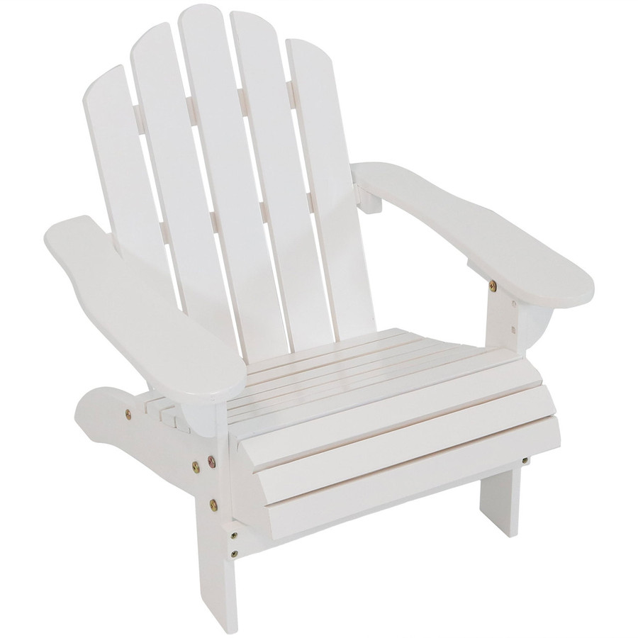 Child-Size Classic Wooden Adirondack Chair, White
