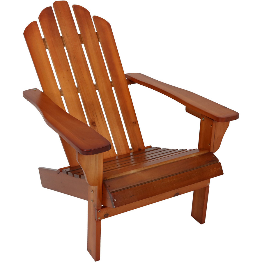 Wood Outdoor Adirondack Chair, Brown