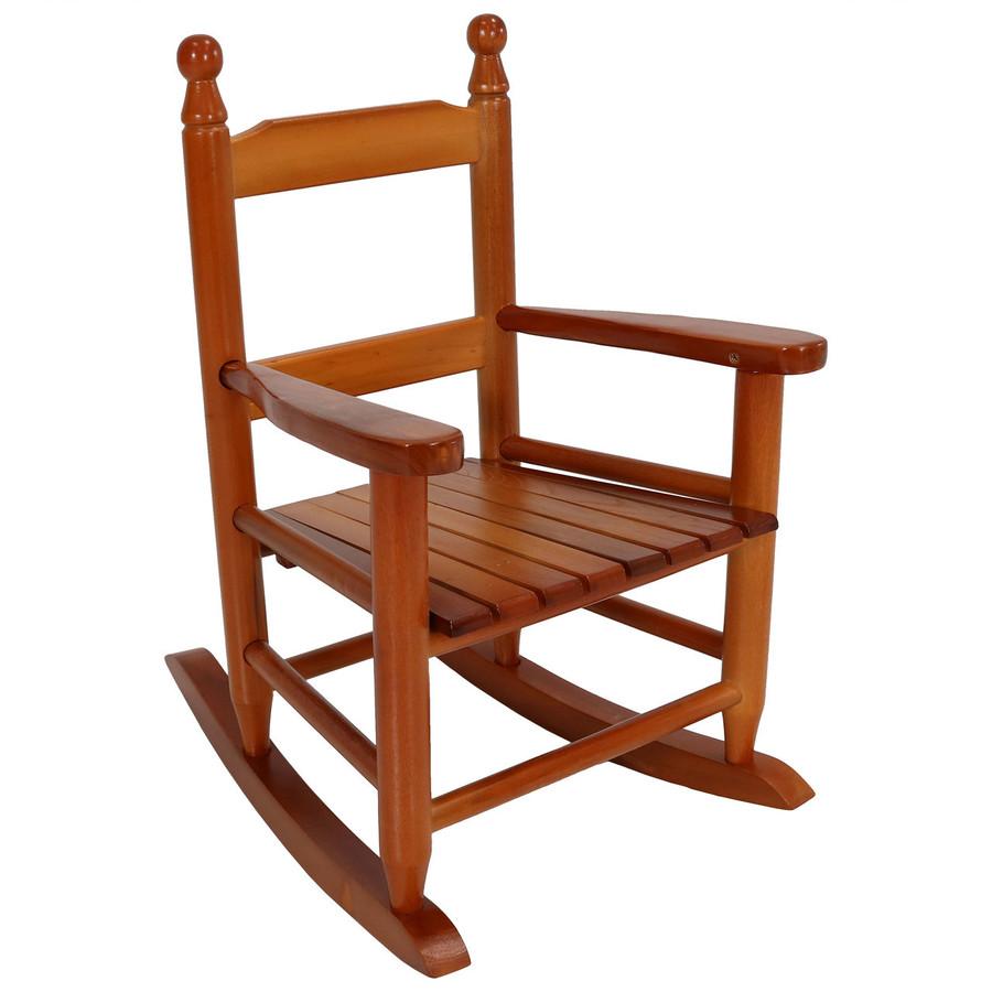 Child-Size Modern Wooden Rocking Chair, Brown