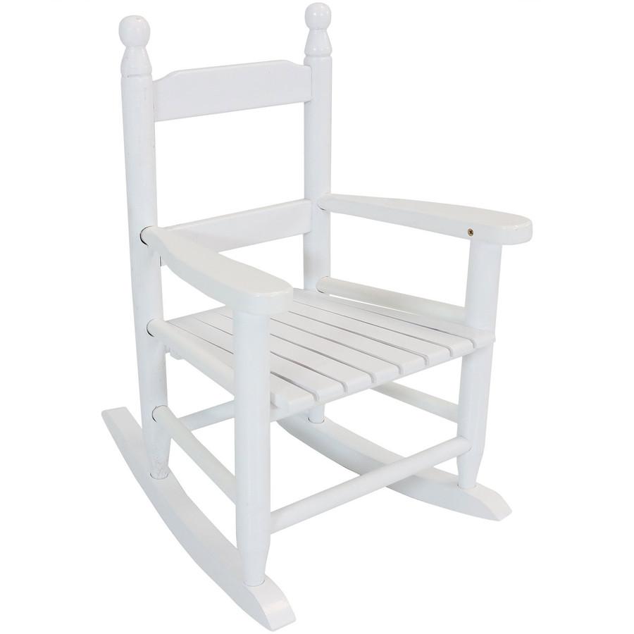 Child-Size Modern Wooden Rocking Chair, White