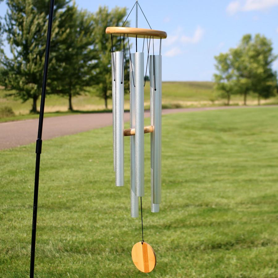 33-Inch Bamboo Aluminum Wind Chimes
