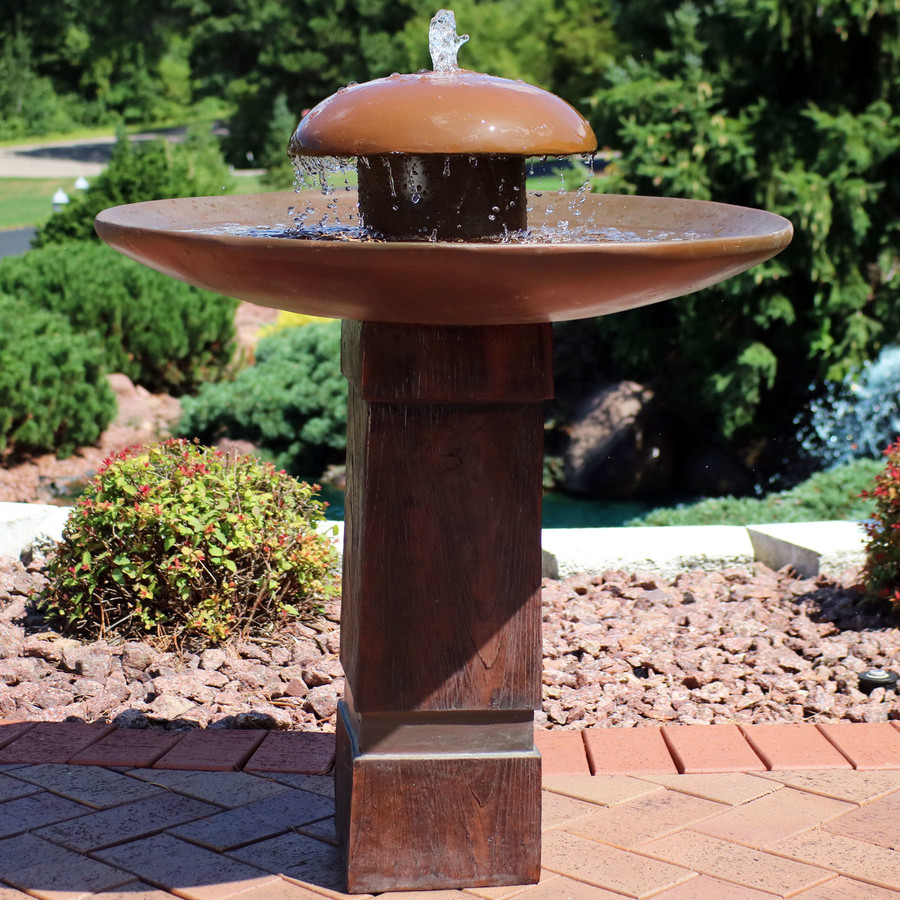 Domed Shower Outdoor Bird Bath Water Fountain