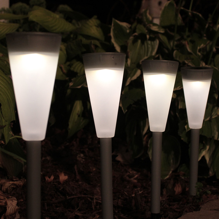 White Setting of Pathway Lights