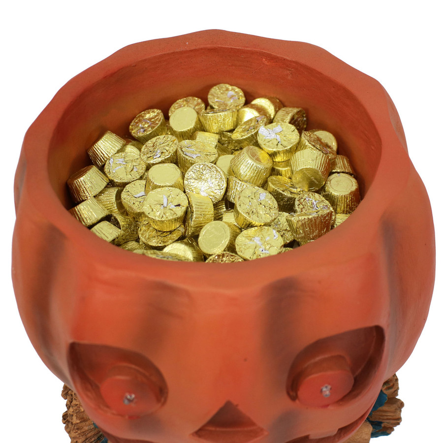Closeup of Built-In Candy Bowl with Candy (Not Included)