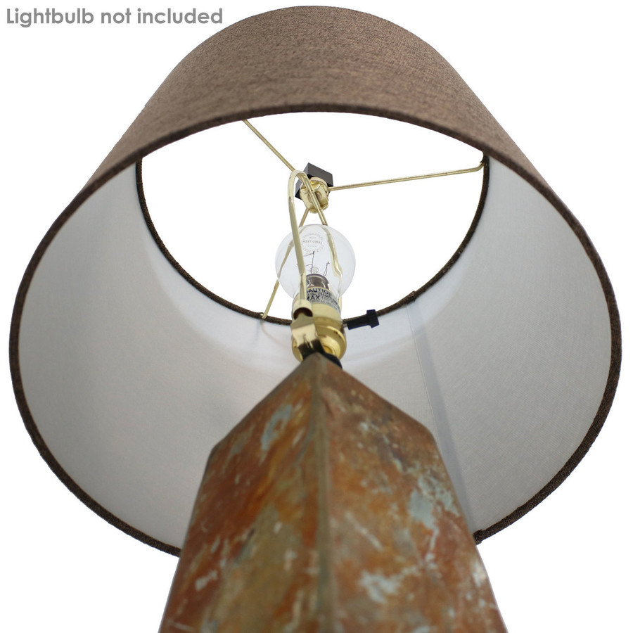 Inside View of Lampshade (Lightbulb Not Included)