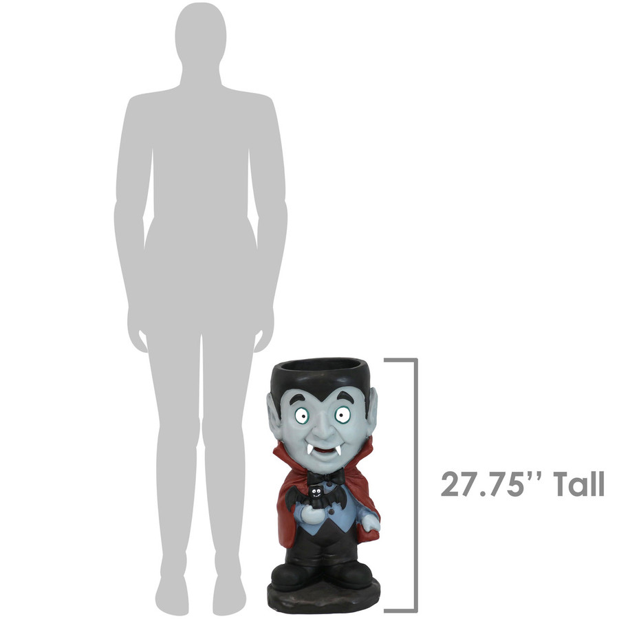 Height of Count Dracula Statue
