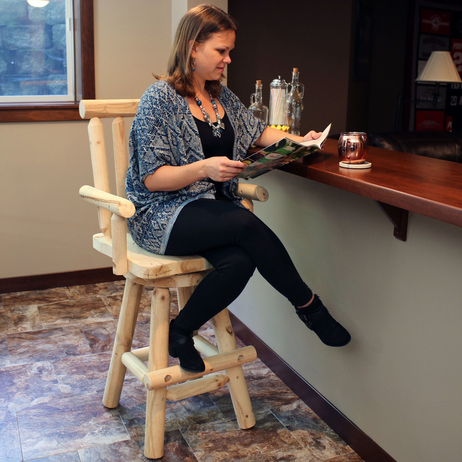 Rustic Bar Stool Indoors