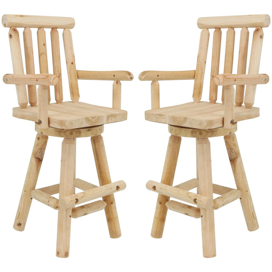 Set of 2 Rustic Bar Stools