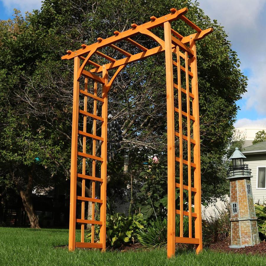 Wooden Arched Outdoor Garden Arbor