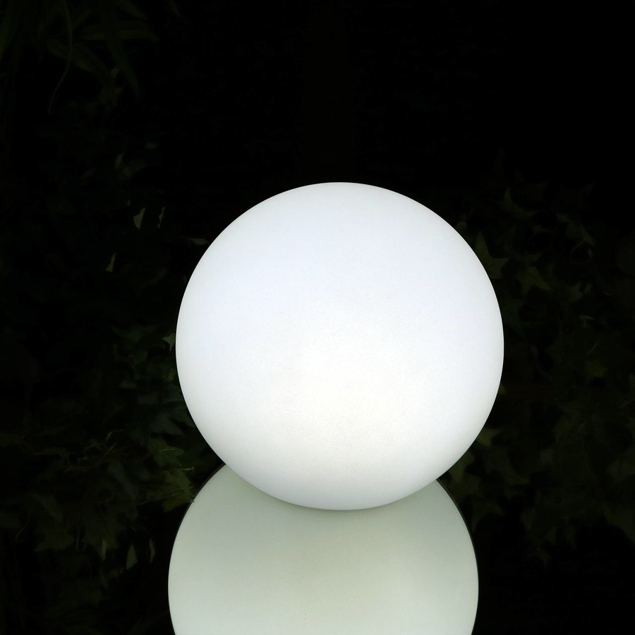Sunnydaze Indoor/Outdoor Floating LED Light Ball with Remote Control, Rechargeable, RGB Color-Changing Orb, Multiple Sizes Available