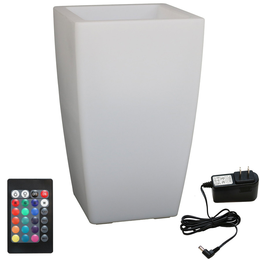 LED Square Flower Pot with Remote Control and Charger