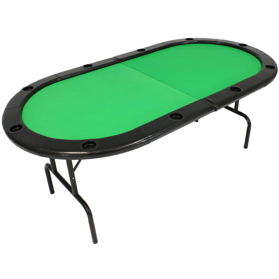 Folding Oval Poker Table for 8 Players